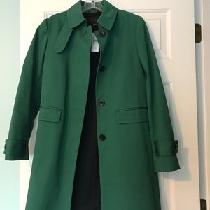 Ann Taylor Mint Condition Green Trenchcoat